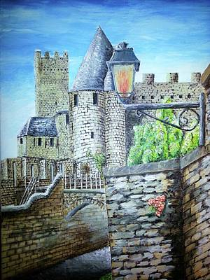 Amy Weiss - Carcassonne Castle France by Irving Starr