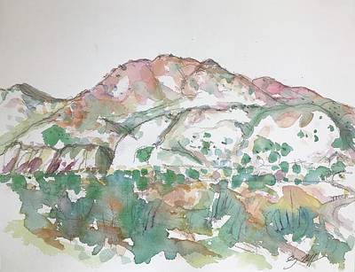Painting - Cerrillos Hills by Glen Neff