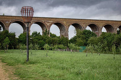 Albert Bierstadt - Chappel Viaduct Essex UK by Martin Newman