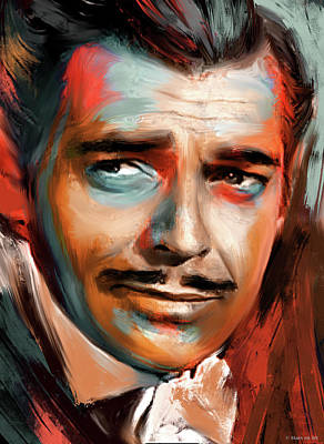Royalty-Free and Rights-Managed Images - Clark Gable by Stars on Art