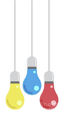 Game Of Chess - Color Hanging Light Bulbs by Allan Swart