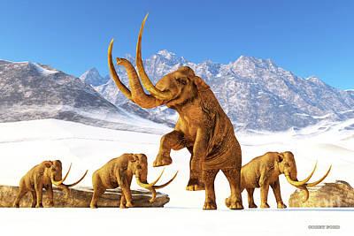 Open Impressionism California Desert - Columbian Mammoth by Corey Ford