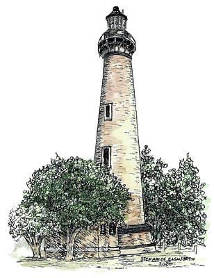 Mixed Media - Currituck Beach Lighthouse by Stephany Elsworth