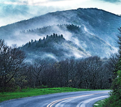Firefighter Patents Royalty Free Images - Early Morning Drive Through Blue Ridge Parkway In Spring Royalty-Free Image by Alex Grichenko