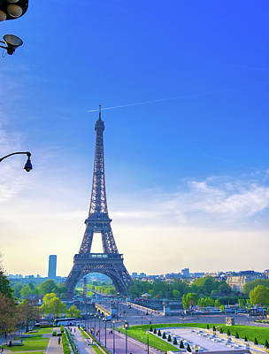 Bringing The Outdoors In - Eiffel Tower from the streets of Paris, France by James Byard
