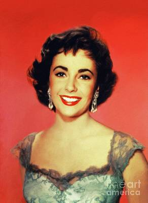 Royalty-Free and Rights-Managed Images - Elizabeth Taylor, Hollywood Legend by Esoterica Art Agency