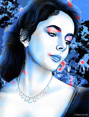 Stone Cold - Elizabeth Taylor by Stars on Art