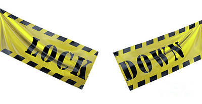 Have A Cupcake - End of coronavirus COVID-19 economic lockdown. Tearing caution tape by Michal Bednarek