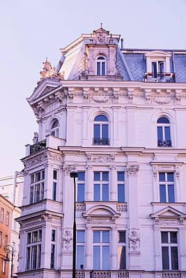 Antique Maps - Exterior facade of classic building in the European city, archit by Anne Leven
