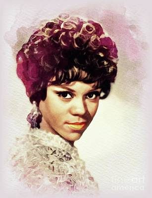 Animals Paintings - Florence Ballard, Music Legend by John Springfield