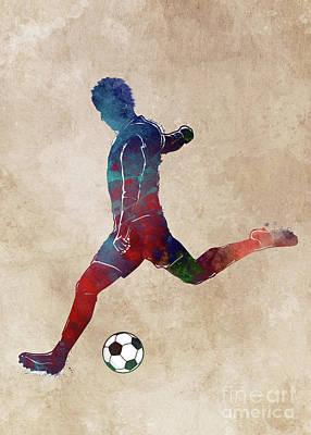 David Bowie - Football player sport art #football #soccer by Justyna Jaszke JBJart
