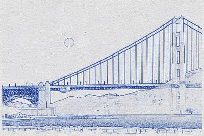 Travel -  Golden Gate Bridge  by Celestial Images