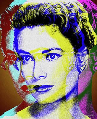 Digital Art - Grace Kelly by Stars on Art