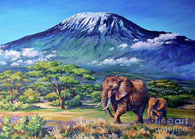 Animals Paintings - Homeward Bound by John Clark