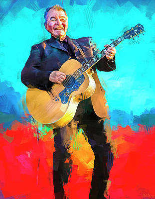 Royalty-Free and Rights-Managed Images - John Prine Singer Songwriter by Mal Bray