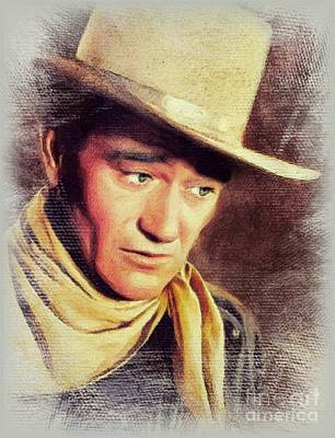 Science Collection Rights Managed Images - John Wayne, Movie Legend Royalty-Free Image by John Springfield