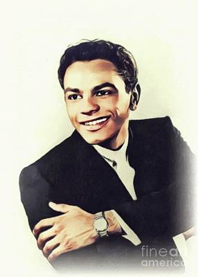 Music Paintings - Johnny Mathis, Music Legend by John Springfield