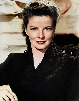 Train Paintings Rights Managed Images - Katharine Hepburn Royalty-Free Image by Stars on Art