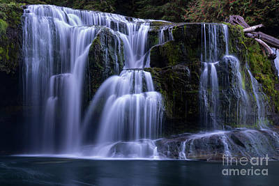 Photograph - Lewis River Falls by Keith Kapple