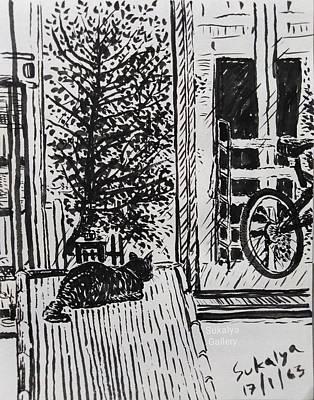 Drawing - Looking Outside by Sukalya Chearanantana