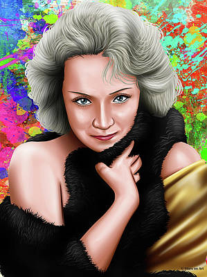 Priska Wettstein All About Flowers Royalty Free Images - Marlene Dietrich Royalty-Free Image by Stars on Art