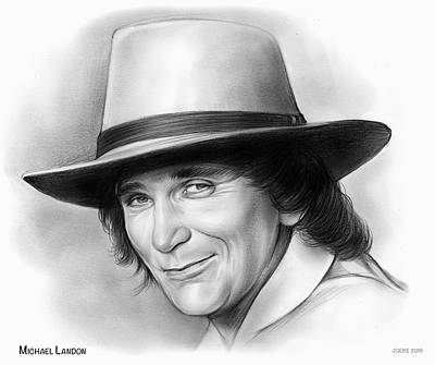 Celebrity Watercolors - Michael Landon by Greg Joens
