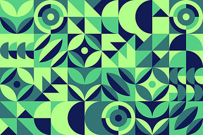 Royalty-Free and Rights-Managed Images - Modern shape geometric seamless pattern by Julien