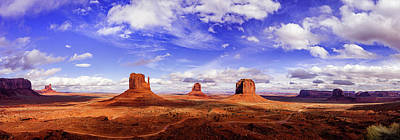 World War Two Production Posters - Monument Valley Panorama by Andrew Soundarajan