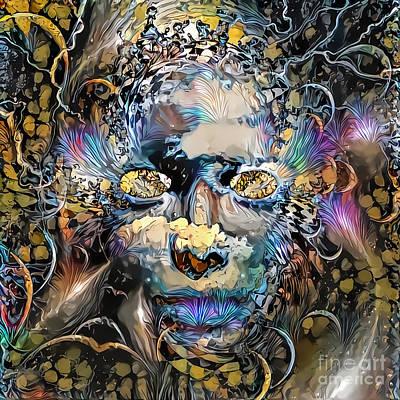 Surrealism Digital Art - Mystic mask by Bruce Rolff