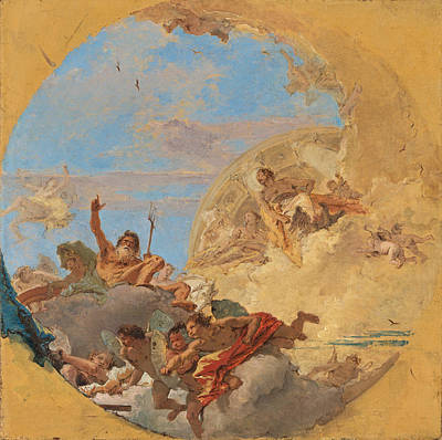 Painting - Neptune And The Winds 3 by Giovanni Battista Tiepolo