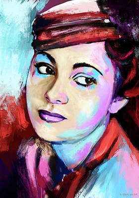 Pop Art Rights Managed Images - Olivia de Havilland Royalty-Free Image by Stars on Art