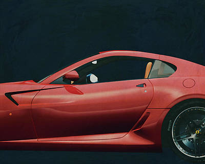Painting - Painting Of A Ferrari 599 Gtb Fiorano 2006 by Jan Keteleer