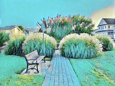 Surrealism Royalty-Free and Rights-Managed Images - Peaceful Park by Surreal Jersey Shore