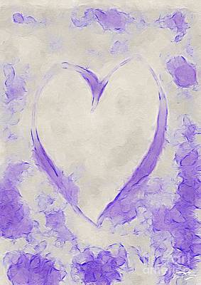 Book Quotes - Purple Love Hearts by Douglas Brown
