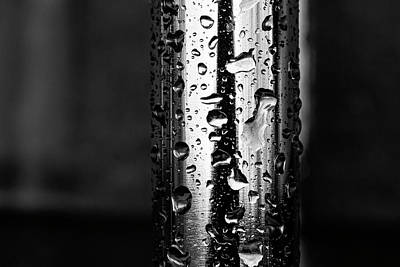 Still Life Royalty-Free and Rights-Managed Images - Raindrops on Metal by Robert Ullmann