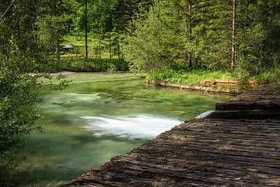 Photograph - Schiederweiher on a sunny day in spring by Stefan Rotter