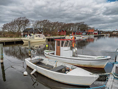 American Milestones - Stauning very small harbor by Ringkoebing fjord, Denmark by Frank Bach