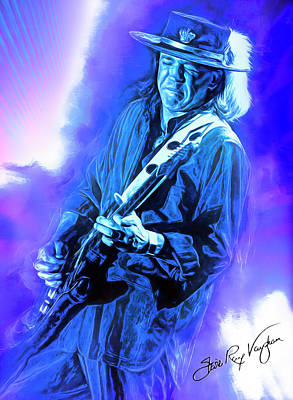 Royalty-Free and Rights-Managed Images - Stevie Ray Vaughan SRV by Mal Bray