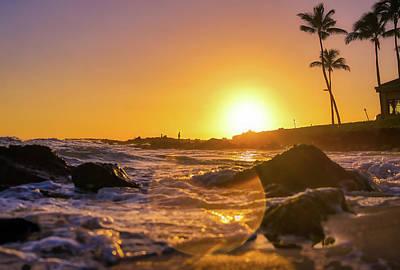 Rose - Sunset over the coast of Kauai, Hawaii by James Byard