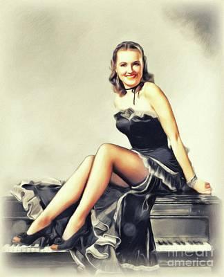 Painting - Susanna Foster, Vintage Actress by John Springfield