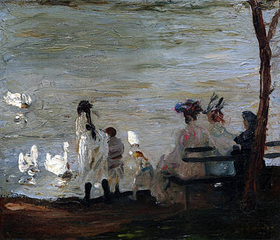 Graduation Sayings - Swans in Central Park by George Bellows