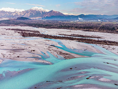 Surrealism Royalty-Free and Rights-Managed Images - Tagliamento River by Nicola Simeoni