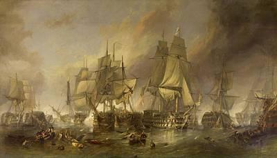 Aretha Franklin - The Battle of Trafalgar by Clarkson Frederick Stanfield