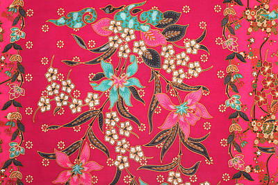 Royalty-Free and Rights-Managed Images - The beautiful of art Malaysian and Indonesian Batik Pattern by Julien