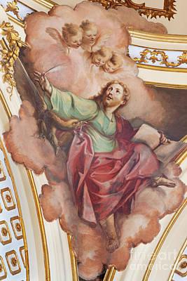 Parks - The fresco of St. John the Evangelist by Jozef Sedmak
