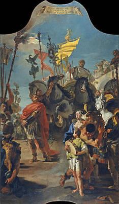 Painting - The Triumph Of Marius 3 by Giovanni Battista Tiepolo