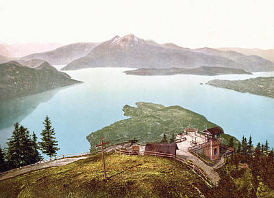 Royalty-Free and Rights-Managed Images - View of Lake Lucerne and Pilatus from Rigi Kanzell, Schwyz, Switzerland 1890. by Joe Vella