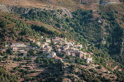 Photograph - Village of Lento in Corsica by Jon Ingall