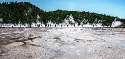 Thomas Kinkade Royalty Free Images - Grand Prismatic Spring in Yellowstone National Park Royalty-Free Image by Alex Grichenko