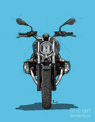 Royalty-Free and Rights-Managed Images - 2020 BMW R nine T, Scrambler by Drawspots Illustrations